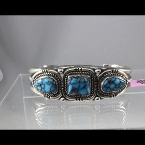 """Sterling Silver Turquoise Cuff Bracelet 6"""""""